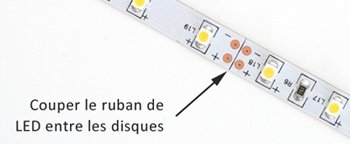 Ou couper un ruban de LED