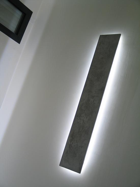 Applique LED allumée