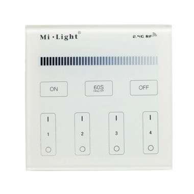 Télécommande mi.light 4 zones pour ruban LED blanc teinte fixe