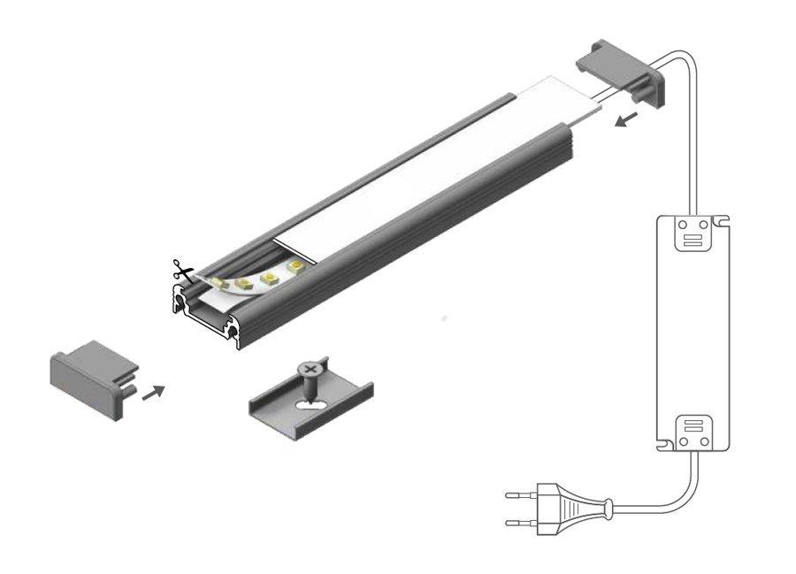 Montage barre LED