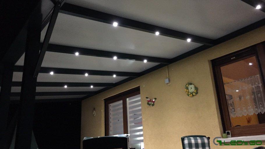 Eclairage véranda spot LED