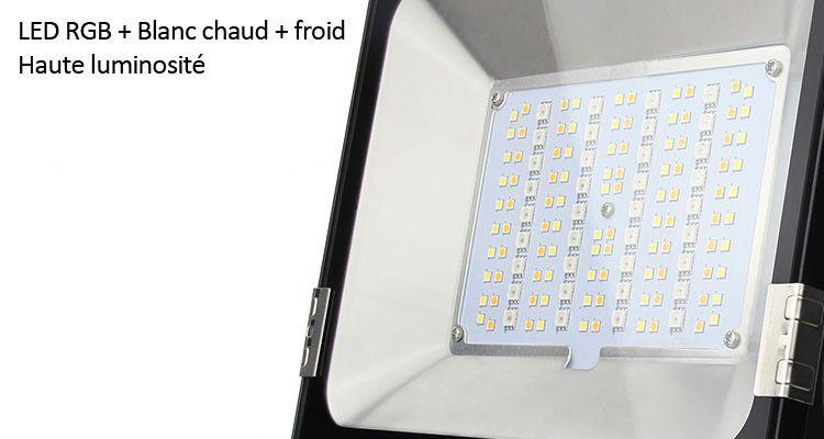 Qualité des LED du projecteur RGB+CCT