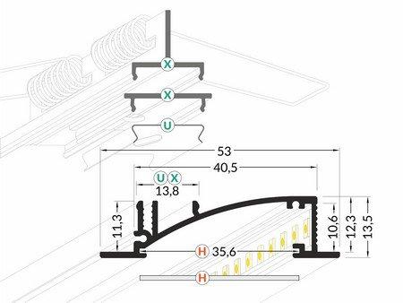 Dimensions profilé LED bandeau