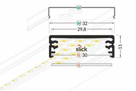 Dimensions profilé LED extra large